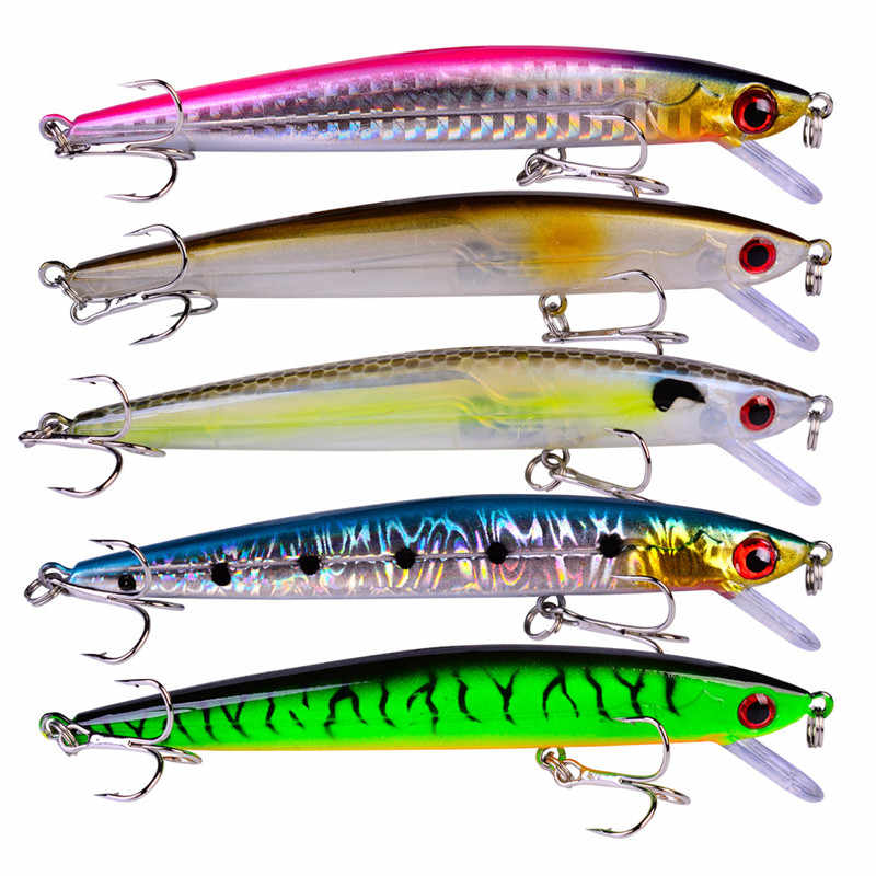 Outdoor 5 Styles Hard 3D Eyes Fishing Lures Tools Minor Fish Bionic Baits with Six Hooks