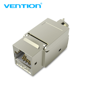 Image 1 - Vention Cat7 Ethernet Connector RJ45 Modular Ethernet Cable Head Plug Gold plated Cat 7 Shield Network Connector for Lan Cable