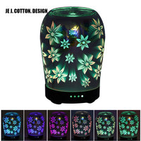 3D Flower Air Humidifier Essential Oil Diffuser Lamp For Home Air Ultrasonic Humidifier Aroma Diffuser With