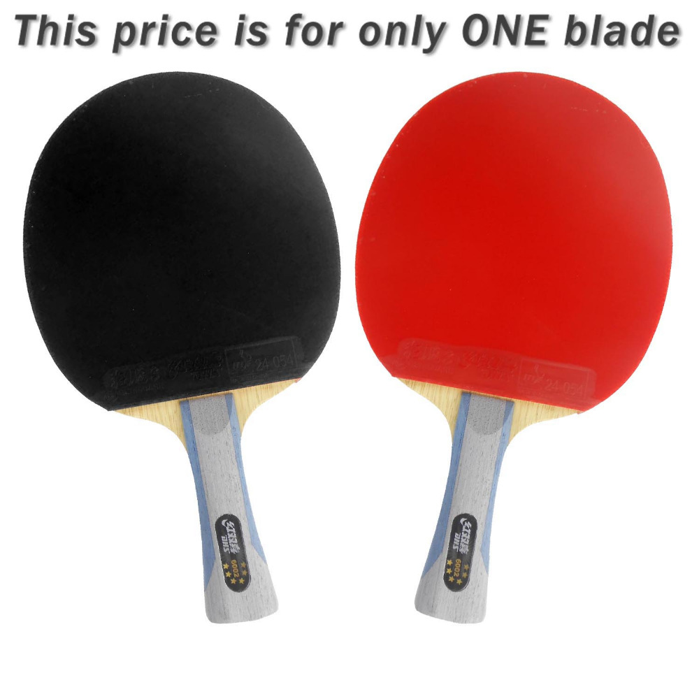 DHS 6002 Long Shakehand FL Table Tennis Ping Pong Racket + a Paddle Bag boer table tennis 1 star ping pong racket paddle