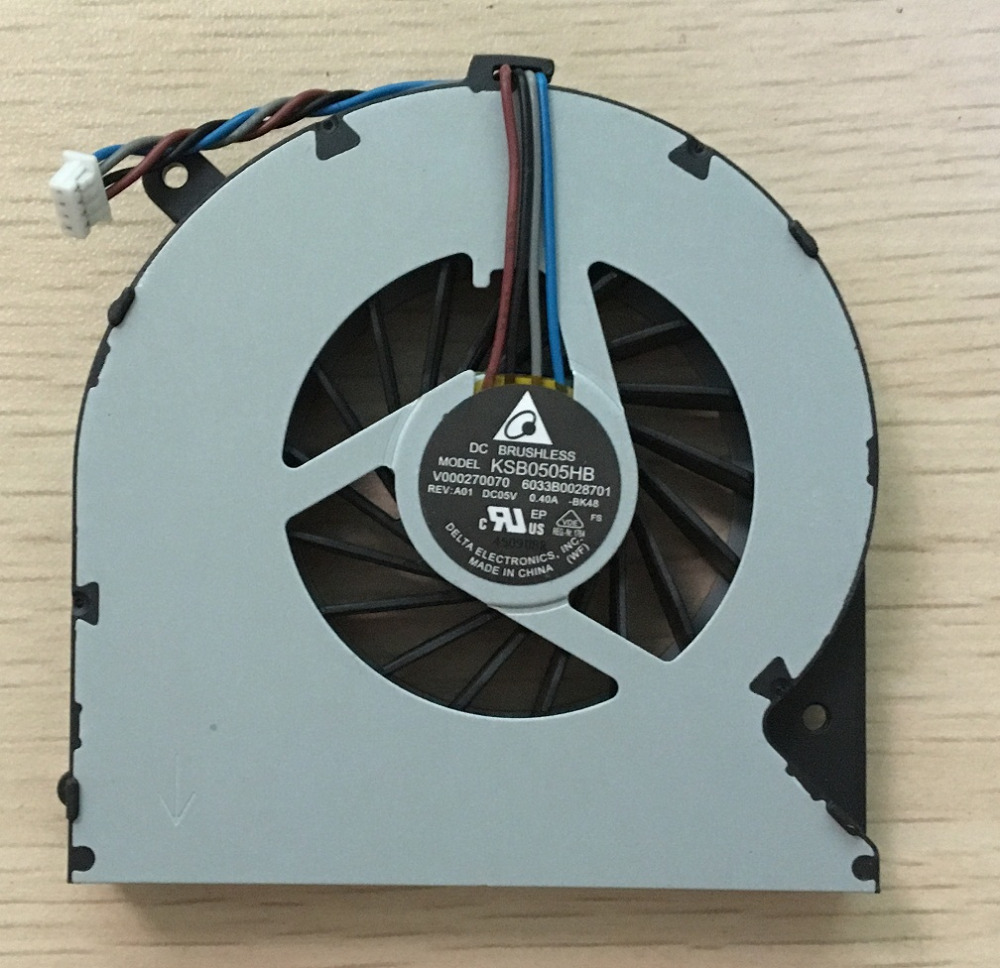 SSEA New CPU Cooling Cooler Fan for Toshiba Satellite C850 C850D C855 C855D L850 L850D L855 L855D P/N:V000270070 4 wire image