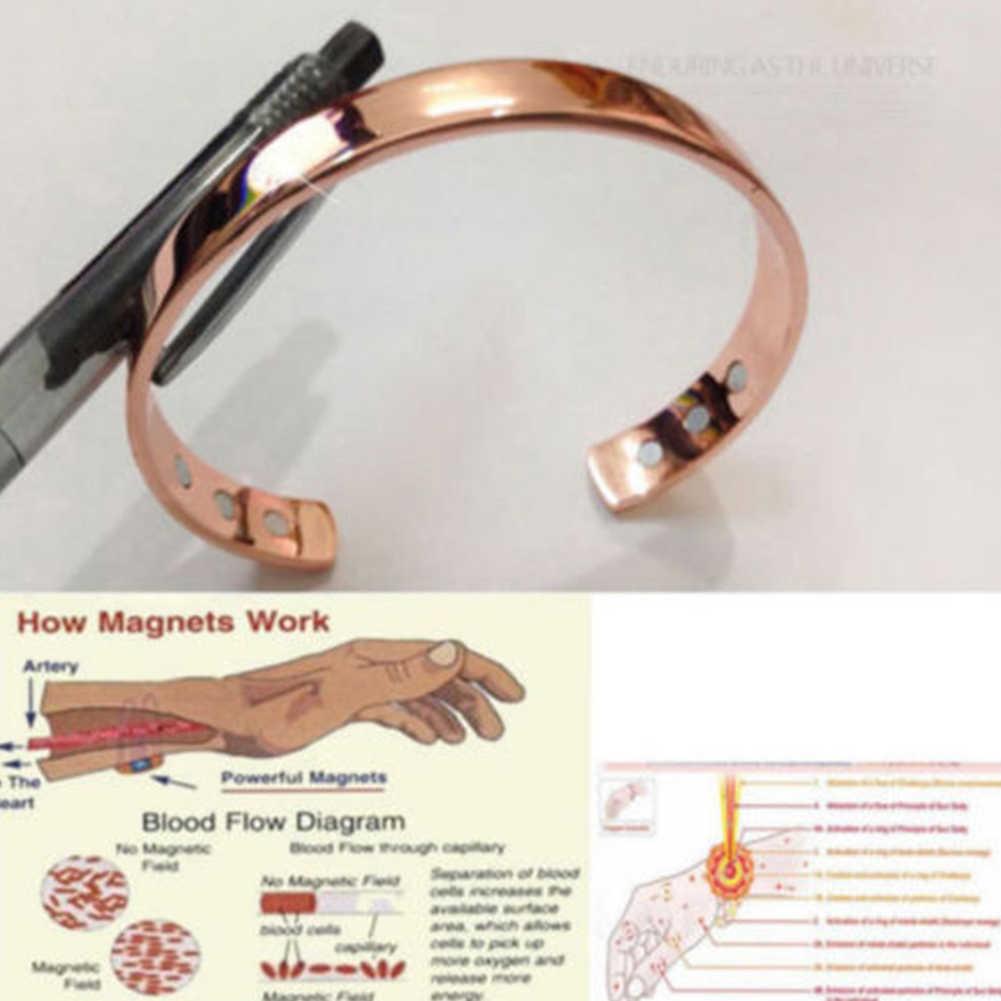 מגנטי נחושת צמיד ריפוי ביו טיפול דלקת מפרקים כאב סיוע צמיד שרוול טיפול מגנטי צמיד לנשים ~