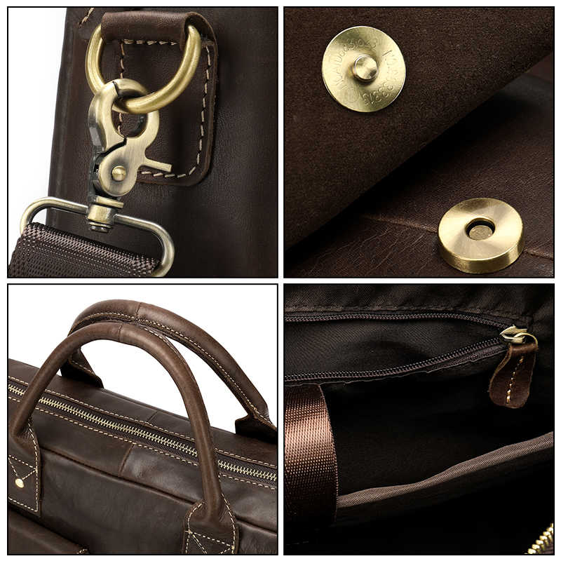 3a55b2b32e39 ... WESTAL для мужчин портфель, плечевая сумка для Docu t мужчин's пояса из  натуральной кожи сумка ...