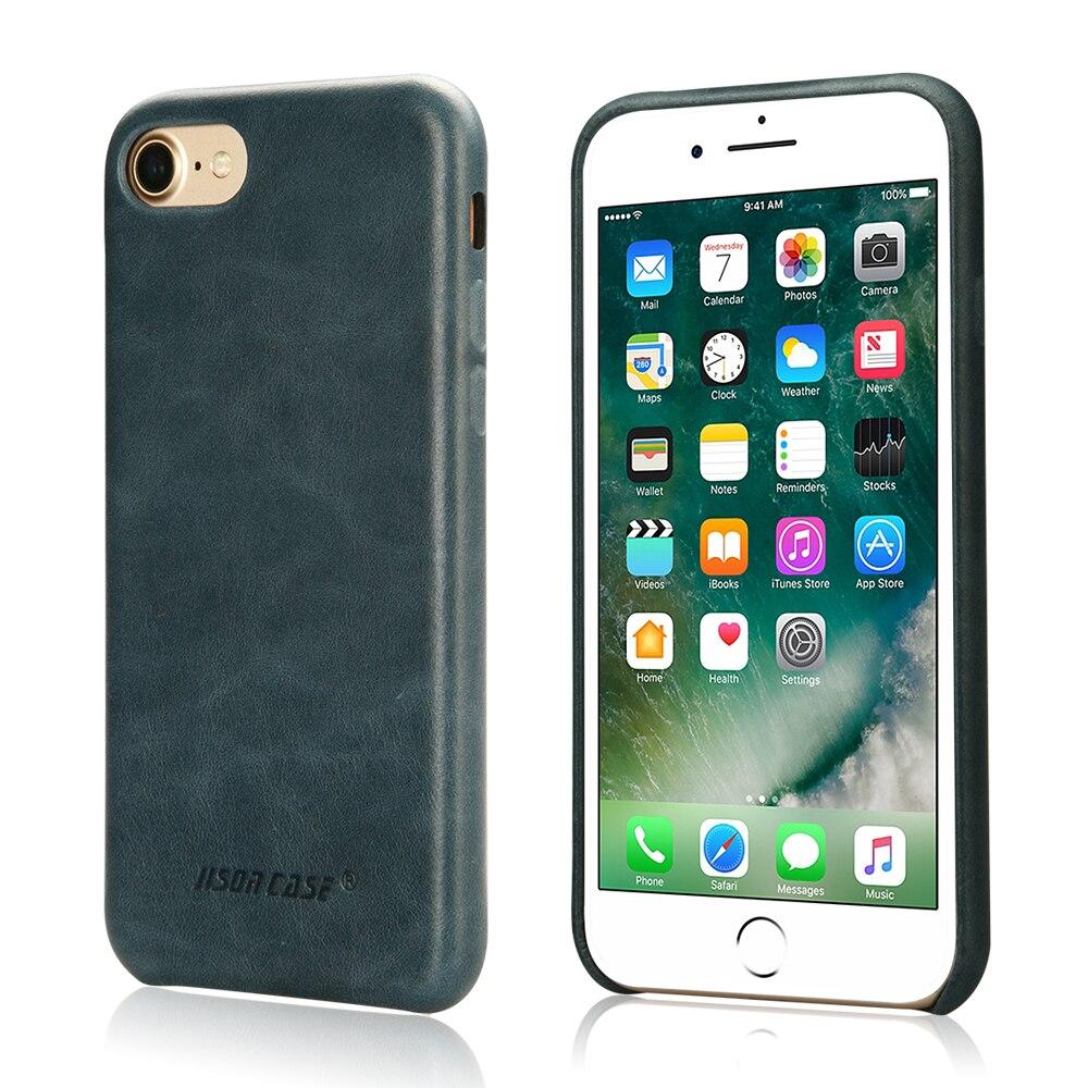 """Цена за Jisoncase для iPhone 7 Чехол Из Натуральной Кожи Класса Люкс Тонкий Телефон Чехол для iPhone 7 4.7 """"крышка Комфорт Защитной Оболочки Fundas"""