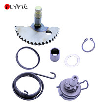 FLYPIG Kick Starter Start Shaft Idle Gear Spring for GY6 49cc 50cc 80cc Scooter Compatible with P139QMB 4 Stroke Engine Parts a51 14mm shaft dia metal motorcycle engine kick start starter lever silver tone motorcycle starter levers engine start universal