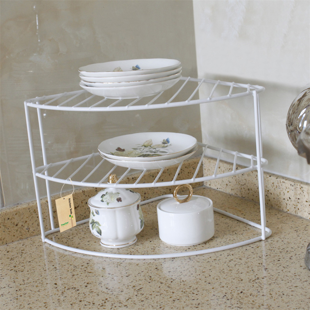 Finether 3 Tier Corner Plate Rack Corner Shelf Organizer Corner Helper Shelf  Storage Organization Holder Kitchen Accessories In Storage Holders U0026 Racks  From ...