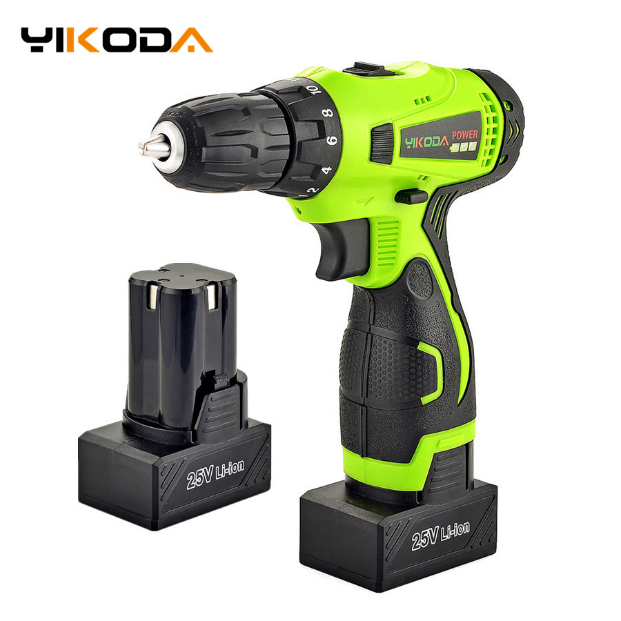 25V Electric Drill Double Speed Lithium Battery 2 Cordless Drill Household Multi function Electric Screwdriver Power