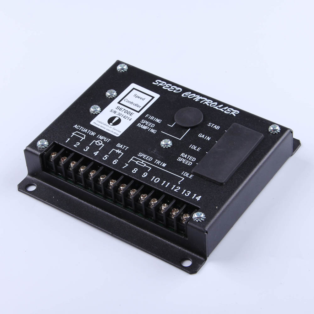 Cheaper S6700E Speed Controller diesel generator engine actuator govornor brushless genset part DC motor control circuit board generator speed controller 3044195 for diesel engine genset