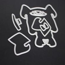 AZSG Fur dog  for Scrapbooking Metal Cutting Die Seal DIY Photo Album Card Making Decoration Supply