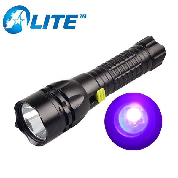 [Free Ship] 18650 Ultraviolet Lantern 3W XPE LED Strong Purple Light 385nm 395nm Underwater 100m UV Diving Flashlight Torch