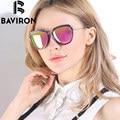 BAVIRON Щит Поляризованные Очки Женщины Зеркало Солнцезащитные Очки TR90 Рамка Высокого Качества Солнцезащитные Очки Роскошные Коробки Бесплатный UV400 Очки 8526