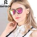BAVIRON Shield Gafas Polarizadas Mujeres Espejo Gafas de Sol Gafas de Sol Del Marco TR90 Alta Calidad Caja de Lujo del Envío UV400 Eyewear 8526