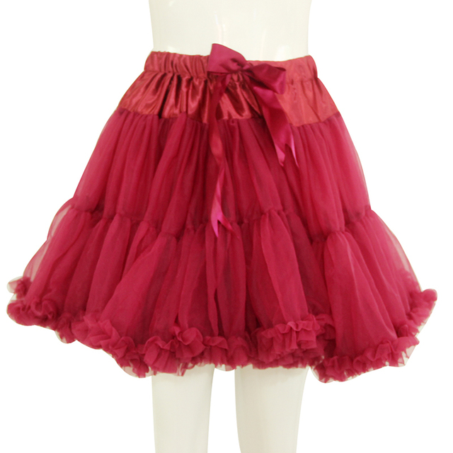 Fluffy Double Layers tutu Skirt Teen Girl Adjustable Waist Pettiskirts Tulle Tutu Skirts Party Dance Skirt Rockabilly Petticoat