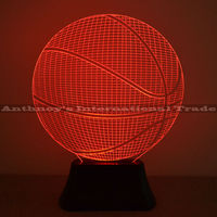 1pec Set Basketball Lamp 7 Color Changing Visual Illusion LED Lamp 2016 Fashion Toy 3D Light