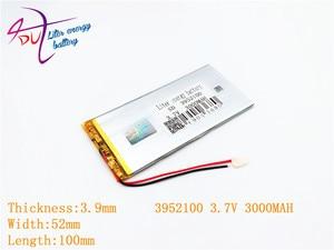 Image 2 - 3952100 3.7 V 3000 mah 4050100 ليثيوم بوليمر بطارية مع لوح حماية PDA ل وحية المنتجات الرقمية