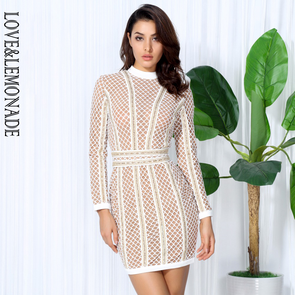 Love Lemonade lattice Patchwork whit Belt Party Dress TB 10058