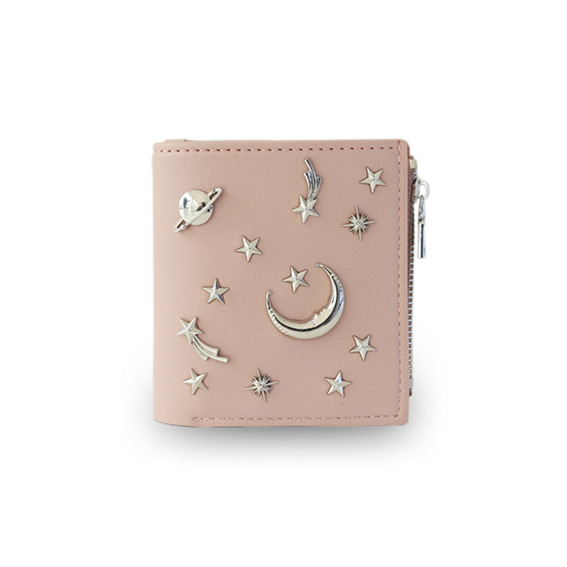 Women's 20% Simple Cross Pure Color Soft Star Star Wallet 2018 New Style Women's Wallet 1