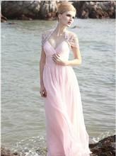 free shipping 2013 new pink vestidos formales long chiffon floor length luxury banquet evening gowns elegant Graduation Dresses