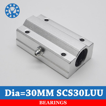 SCS30LUU  30mm   1 PC  Metal Linear Ball Bearing FOR XYZ Table CNC Route For mm Linear Shaft