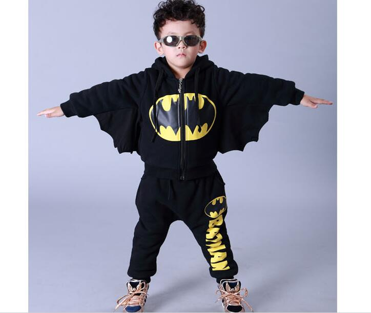 Batman <font><b>Spiderman</b></font> Captin American Kids Clothes Girls <font><b>Boys</b></font> Clothing <font><b>Hoodie</b></font> Cosplay <font><b>Costume</b></font> Roupa Menino Korean Version Cartoon