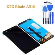 """5,0 """"Новый 100% протестированный ЖК дисплей для ZTE A510 + аксессуары для жидкокристаллического дисплея кодирующий преобразователь сенсорного экрана в сборе + Инструменты"""