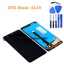 "5.0 ""nuovo 100% di prova per ZTE A510 display LCD + touch screen digitizer assembly display a cristalli liquidi accessori + strumenti"