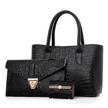New 2017 women s handbag fashion picture package 3 pcs set shoulder bag messenger bags hot
