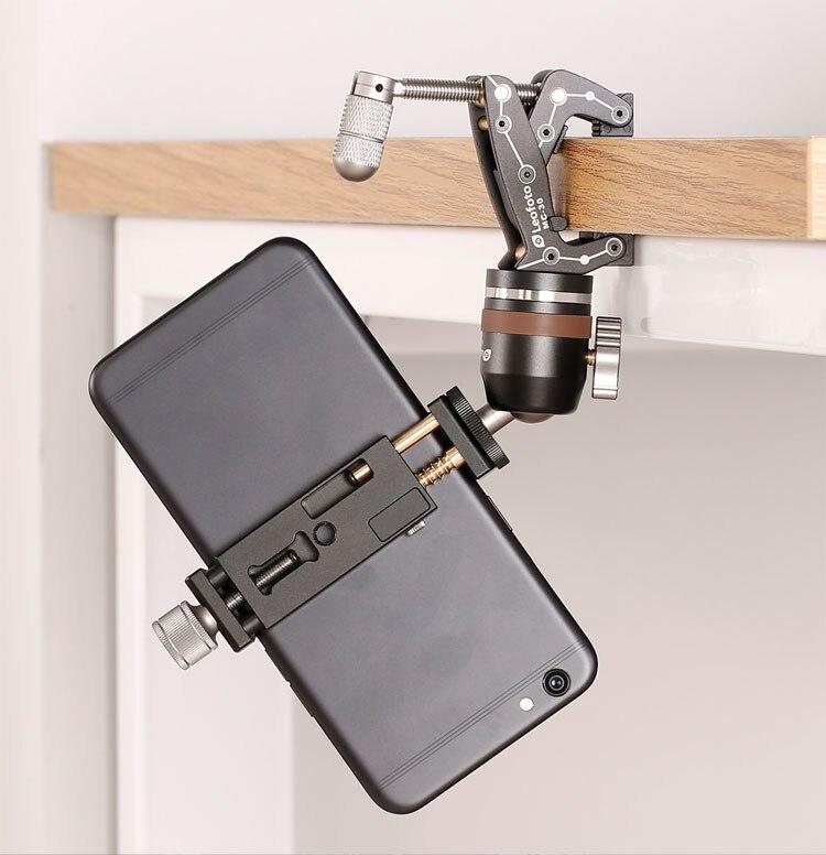 Kits de pinces de voyage pour téléphone avec pince multi-place, Micro-tête et trépied de téléphone pour iPhone Smartphone phonegraphe