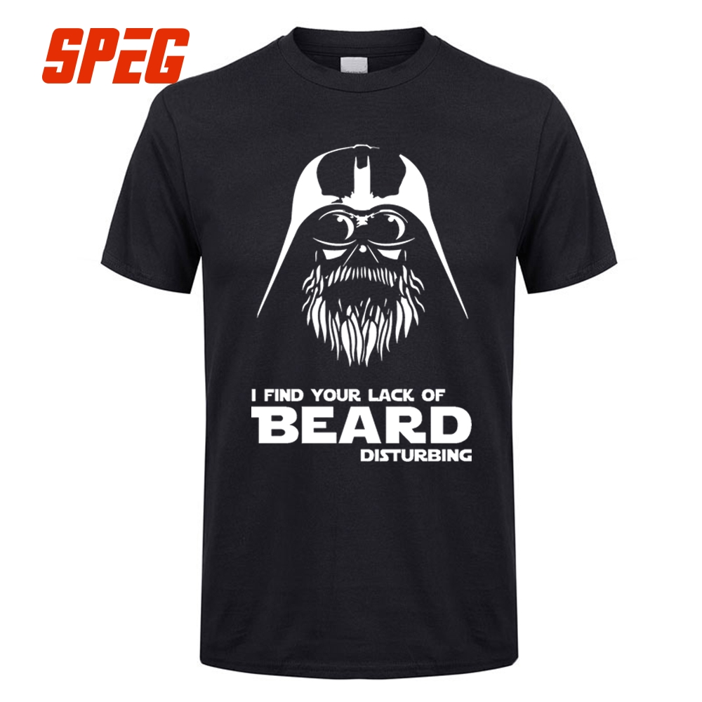 Star Wars Disturbing I Find Your Lack Of Beard T Shirts Teenage 100% Cotton Short Sleeve Tees Shirt Style Youth T Shirt Vintage