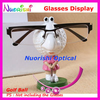 Store Household Car Decoration Cute Cartoon Golf Ball Eyeglass Sunglasses Glasses Dispaly Stands Holder CK02 Free