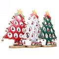 Novas decorações de Natal oferta Especial único de madeira enfeites de árvore de Natal idéias do presente de Natal De madeira do desktop