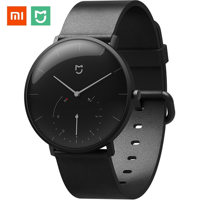 Original Xiaomi Mijia Mi Quartz Smart Watch Men Leather Simple Women Waterproof Bluetooth Sport Smartwatch Mechanical