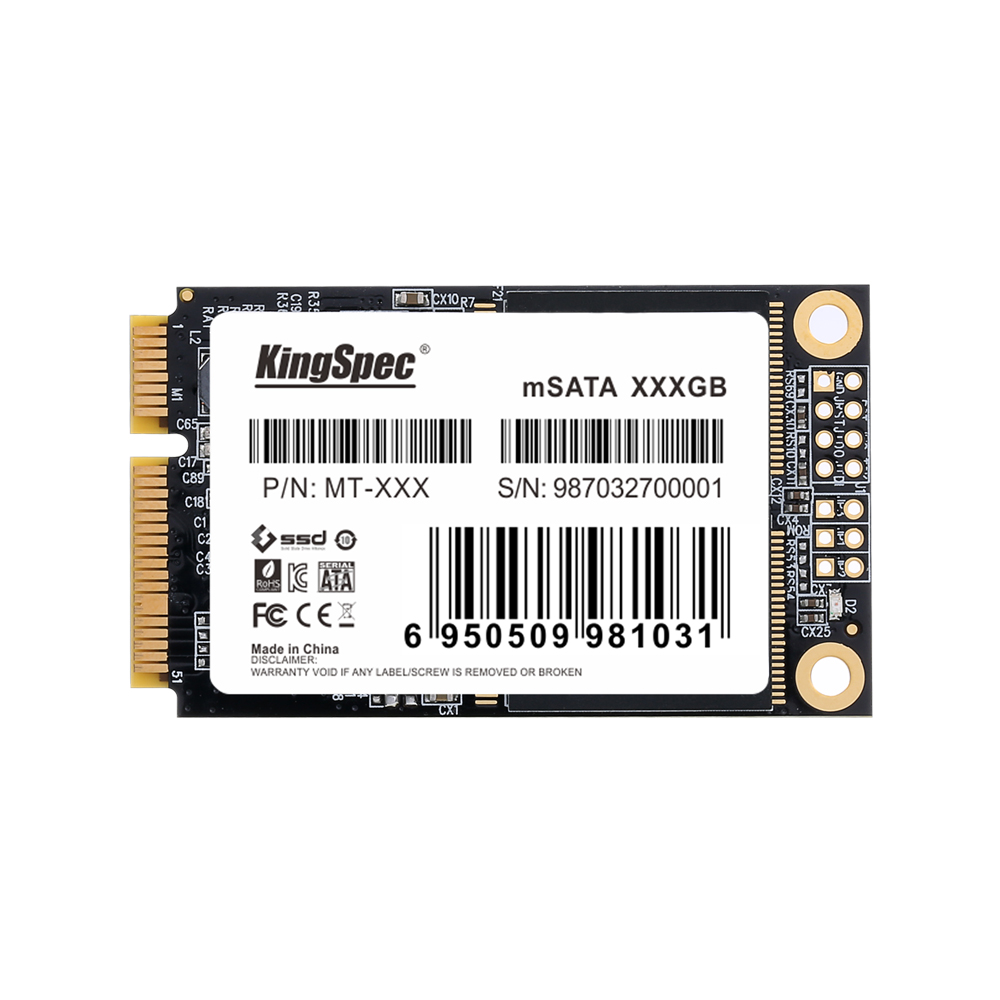 KingSpec mSATA SSD 128gb 256GB 512GB Mini SATA SSD mSATA SSD 120gb Internal Hard Disk For Laptop For Desktop For Dell ThinkPad