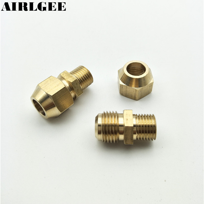 1/4PT Male Thread 10mm OD Tube Brass Pneumatic Air Quick Coupler Connector 2pcs air pneumatic connector 6mm od hose tube push in m5 1 8 1 4pt 3 8 1 2 bspt male thread l shape gas quick joint fittings