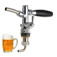 Stainless Steel G5/8 Beer Faucet Adjustable Beer Heads Faucet Flow Control Switch Shank Keg Tap Dispenser