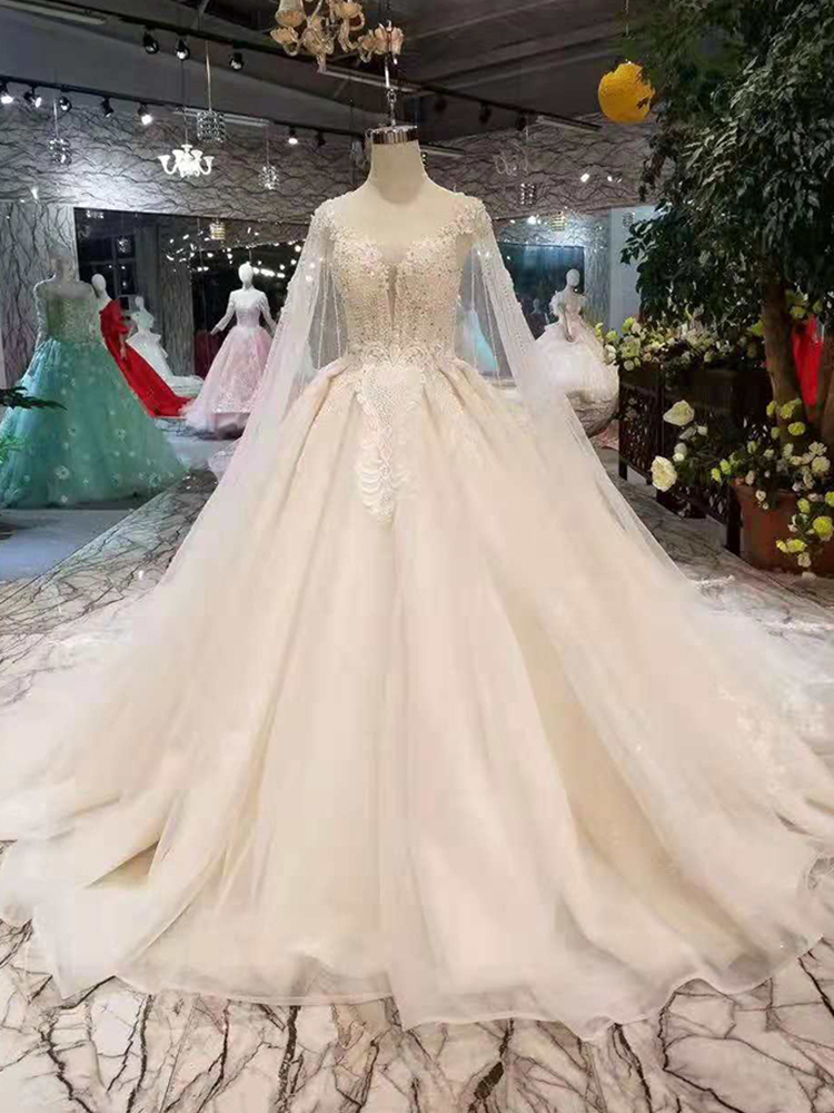 4b88f17891 top 8 most popular long cape wedding dress list and get free ...