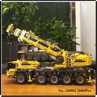 IN STOCK 2606pcs LEPIN 20004 Technic Series Motor Power Mobile Crane MK Model Building Blocks Bricks