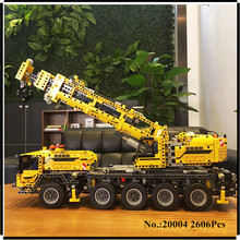 EN STOCK 2606 unids LEPIN 20004 serie técnica potencia Del Motor grúa móvil MK Modelo Building blocks Ladrillos Compatible 42009