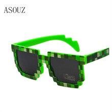 ASOUZ new square men and women childrens sunglasses UV400 fashion mosaic oval child glasses classic brand design
