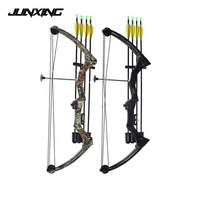High strength Aluminum 20lbs Compound Bow in Black/Camo for Right Hand User for children games Outdoor Archery Shooting Hunting