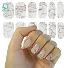 K5739 2016 New Water Transfer Nail Foil Sticker Art Sexy Light Gray White Marble Stone Rock Wraps Manicure Decals