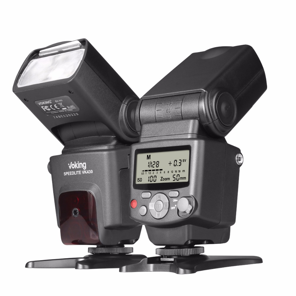 Voking VK430 I-TTL LCD Display Blitz Speedlite Flash für Nikon D5500 D3300 D7200 D3400 D5300 D500 D7500 D750 D5600 und andere DS