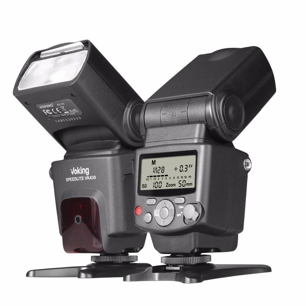 Voking VK430 I-TTL LCD Display Blitz Speedlite Flash for Nikon D5500 D3300 D7200 D3400 D5300 D500 D7500 D750 D5600 and other DS