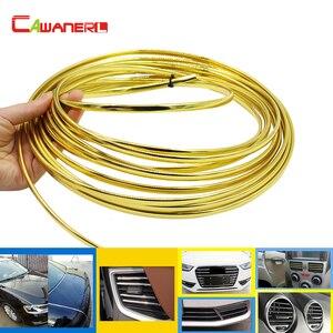 Cawanerl 1000 см автомобильный Стайлинг хромированная отделка для двери автомобиля кондиционер Выход вентиляционное отверстие Внешний бампер р...