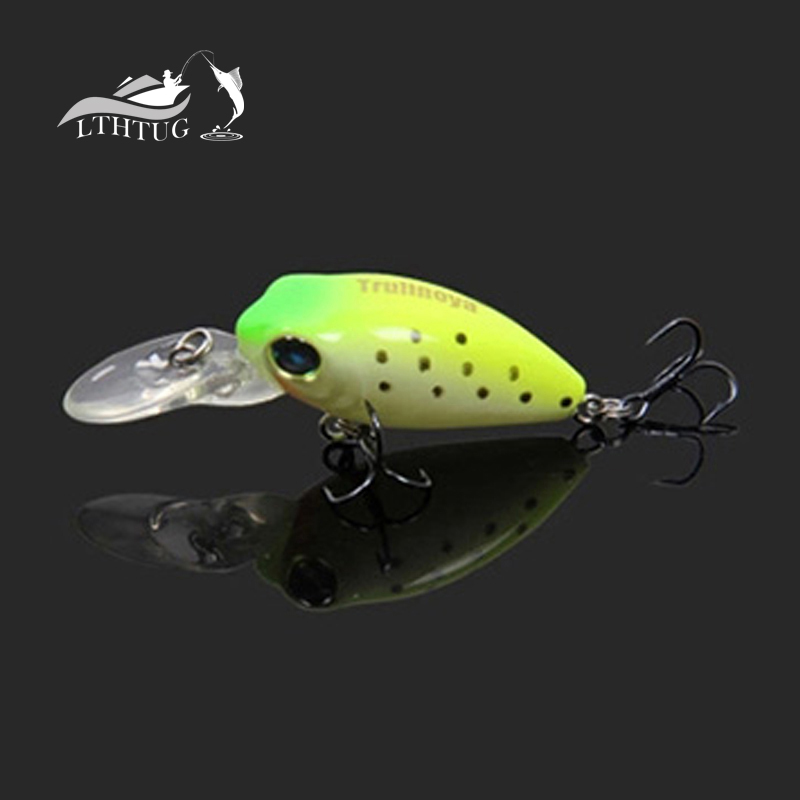 Minni Crank 2.7g 32mm Multi Hard Fishing Lures Artificial Bait Water Depth Crankbait 16# Hook Hot -Selling