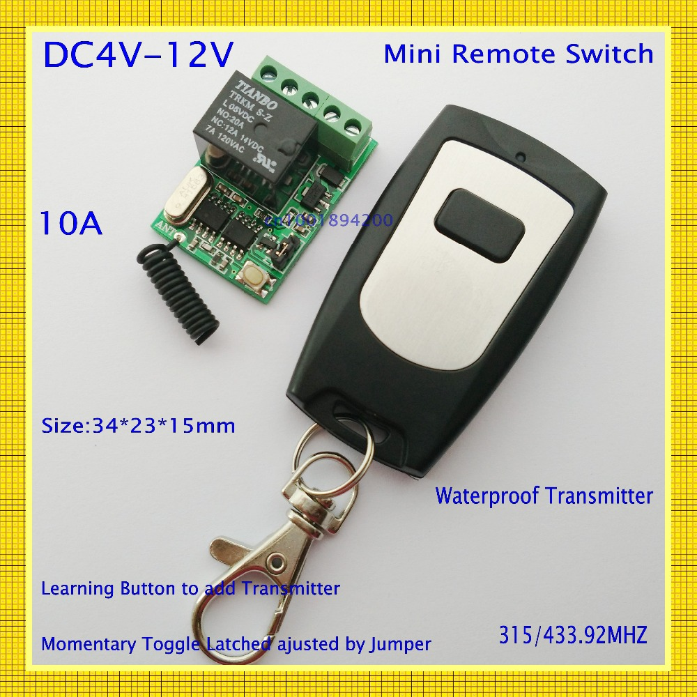 Computer Remote Switch Remote boot up Wirelss start up Relay Contact Button Switch USB DC 4V 5V 6V 7.4V 9V 12V RF Remote Control button up tailcoat