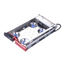 Uneatop ST8214R 2.5 inch SATA HDD/SSD Mobile Rack Enclosure Shock-proof Red Door