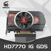 VEINEDA Graphics cards Video Card HD7770 1GB 128Bit PC Desktop PCI Express 2.0 GDDR5 for ATI Radeon Games