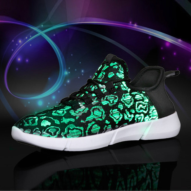 2019 Led Light Casual Shoes Men Sneakers Colorful Flash Trainers Men Casual Shoes Breathable Lace Up Walking Sneakers Men