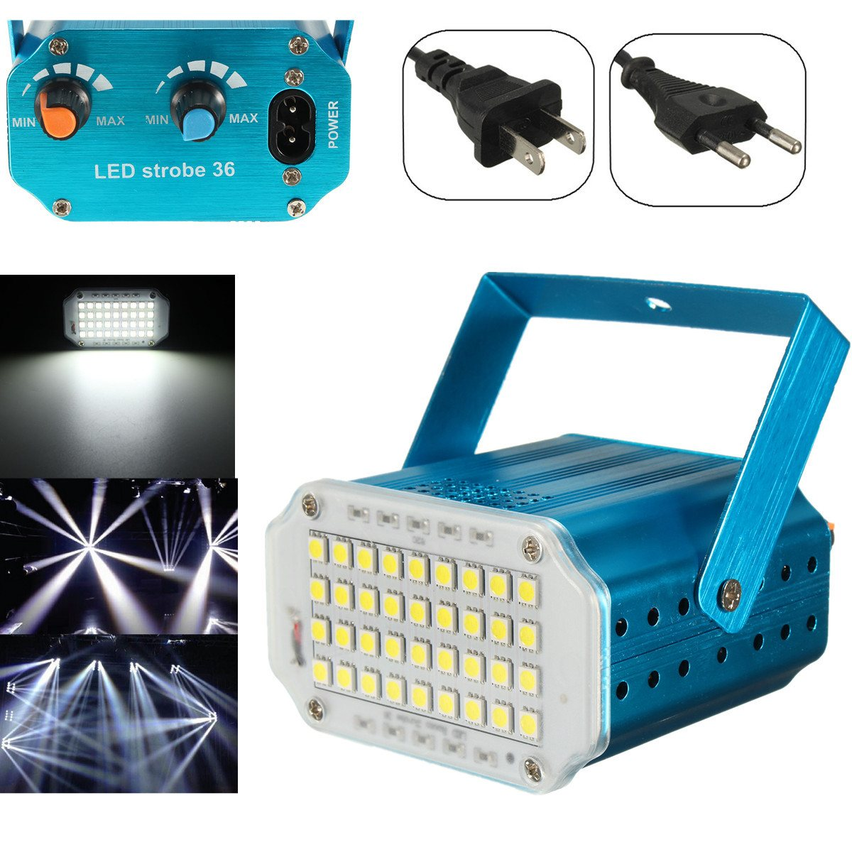 Adjustment LED RGB White Lighting Projector Laser Strobe Stage Light Effect DJ Disco Party Club KTV Night Lamp Bulb US EU Plug laideyi 36 rgb led stage light effect laser party disco dj bar effect up lighting dmx projection lamp ktv party light